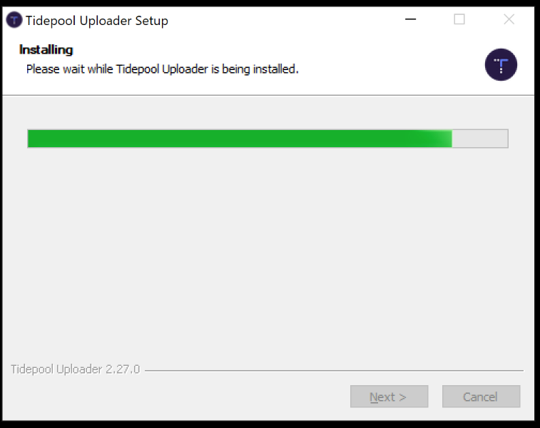Tidepool Uploader installer with progress bar